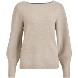textil Mujer Jerséis Vila VICASSIE BOATNECK L/S KNIT TOP Beige