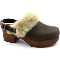 Zapatos Mujer Zuecos (Clogs) Divine Follie DIV-I21-432-CA Marrone