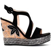 Zapatos Mujer Sandalias Café Noir GGHL501 010 NERO