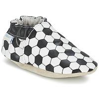 Zapatos Niño Pantuflas para bebé Robeez GOAL Negro / Blanco