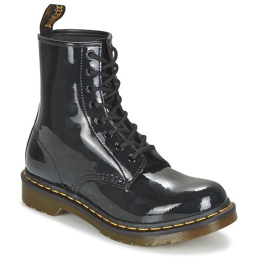Zapatos Mujer Botas de caña baja Dr Martens 1460 W Negro