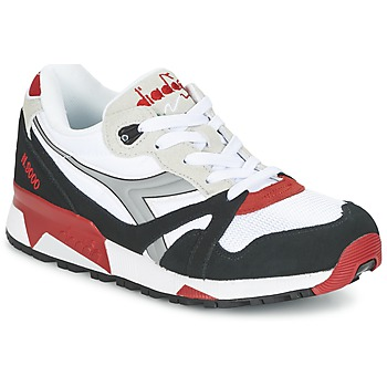 Zapatos Zapatillas bajas Diadora N9000  NYL Blanco / Negro / Rojo