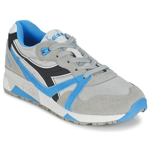 Zapatos promocionales Diadora N9000  NYL Gris / Azul / Negro  Zapatos casuales salvajes
