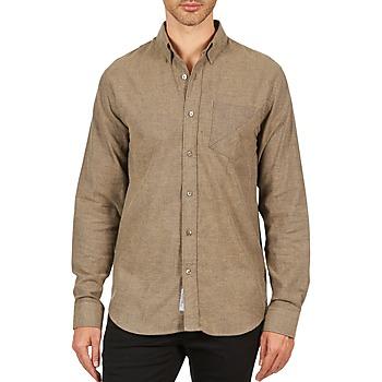 textil Hombre camisas manga larga Kulte CHEMISE CLAY 101799 BEIGE Beige