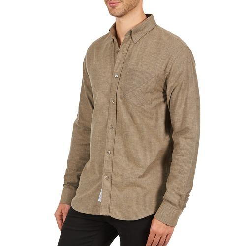 Textil Chemise 101799 Beige Kulte Camisas Manga Hombre Clay Larga nwN80m