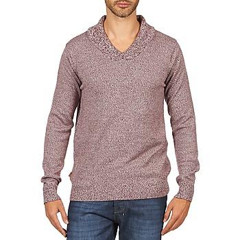 textil Hombre jerséis Kulte PULL CHARLES 101823 ROUGE Rojo