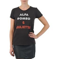 textil Mujer camisetas manga corta Kulte LOUISA ROMEO 101950 NOIR Negro