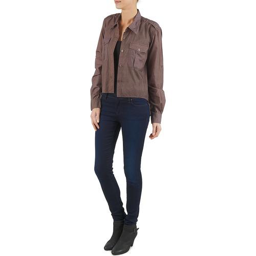 Mujer Camisas Textil Brigitte Bb43077 Bardot Marrón gY7f6by