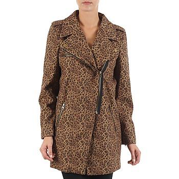 textil Mujer Abrigos Brigitte Bardot BB43110 Marrón / Leopardo