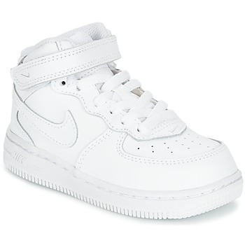 Zapatos Niños Zapatillas altas Nike AIR FORCE 1 MID TODDLER Blanco