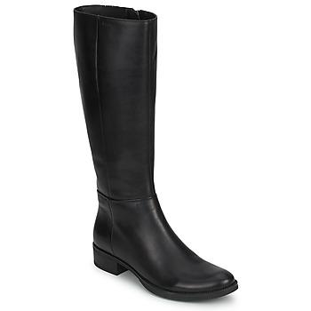 Zapatos Mujer Botas urbanas Geox MENDI STIVALI BASIC Negro