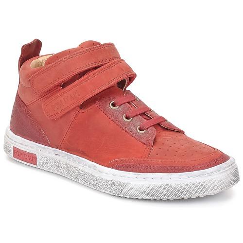 Zapatos Niña Zapatillas altas Pom d'Api BACK BASKET Rojo