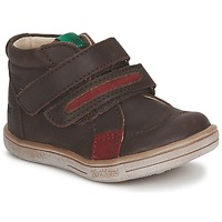 Zapatos Niño Botas de caña baja Kickers TAXI Marrón / Rojo