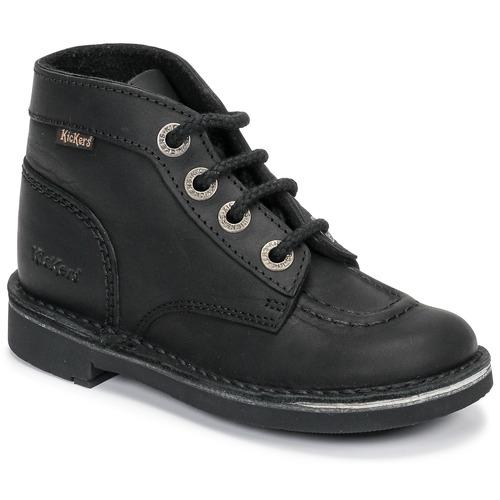 Zapatos Niños Botas de caña baja Kickers KICK COL Negro
