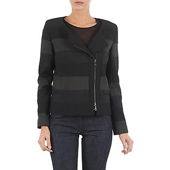 textil Mujer Chaquetas / Americana Lola VIE DUP Negro / Gris