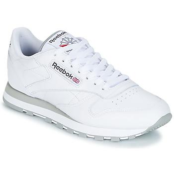 Zapatos Hombre Zapatillas bajas Reebok Classic CL LEATHER Blanco