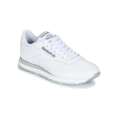 Zapatos especiales para hombres y mujeres Reebok Classic CL LEATHER Blanco
