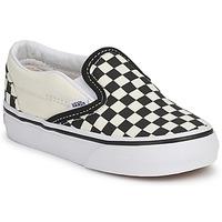 Zapatos Niños Slip on Vans CLASSIC SLIP ON KIDS Negro / Blanco