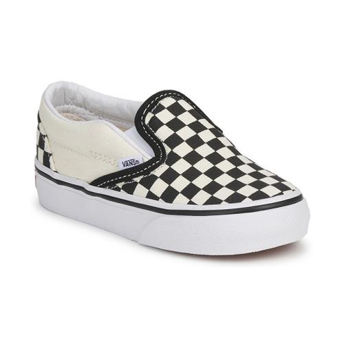 93f84090f Zapatos Niños Slip on Vans CLASSIC SLIP ON KIDS Negro   Blanco
