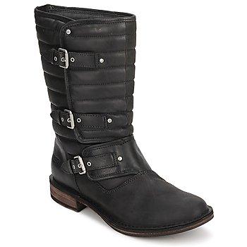 Zapatos Mujer Botas de caña baja UGG TATUM Negro