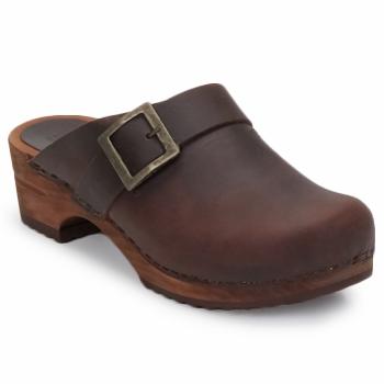 Zapatos Mujer Zuecos (Clogs) Sanita URBAN OPEN Marrón