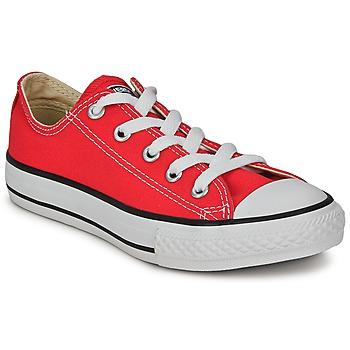 Zapatos Niños Zapatillas bajas Converse ALL STAR OX Rojo