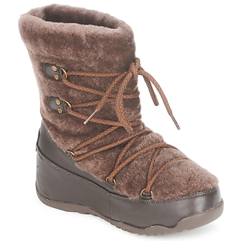 Zapatos Mujer Botas de nieve FitFlop SUPERBLIZZ Chocolate