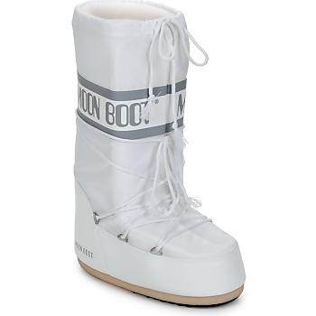 Zapatos Mujer Botas de nieve Moon Boot CLASSIC Blanco / Plata