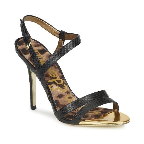 Zapatos Mujer Sandalias Sam Edelman ABBOTT Negro / Snake