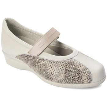 Zapatos Mujer Bailarinas-manoletinas Dtorres LIEJA BAILARINA ANCHA COMODA BEIGE