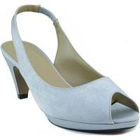 Zapatos Mujer Sandalias Marian ZAPATO SALON DE FIESTA PARA MUJER TACON BAJO PLATA