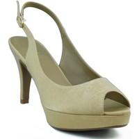 Zapatos Mujer Sandalias Marian ZAPATO SALON DE FIESTA PUNTA ABIERTA MUJER DORADO