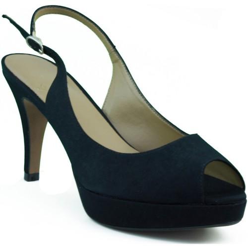 Zapatos Mujer Sandalias Marian ZAPATO SALON DE FIESTA PUNTA ABIERTA MUJER NEGRO
