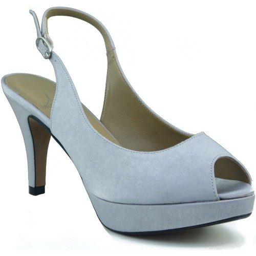 Zapatos Mujer Sandalias Marian ZAPATO SALON DE FIESTA PUNTA ABIERTA MUJER PLATA