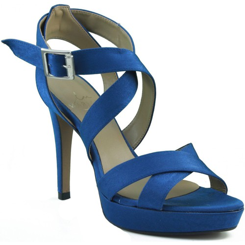 Zapatos Mujer Sandalias Marian ZAPATO DE FIESTA CON TIRAS Y HEBILLA MUJER AZUL