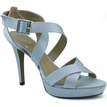 Zapatos Mujer Sandalias Marian DE FIESTA CON TIRAS Y HEBILLA PLATA