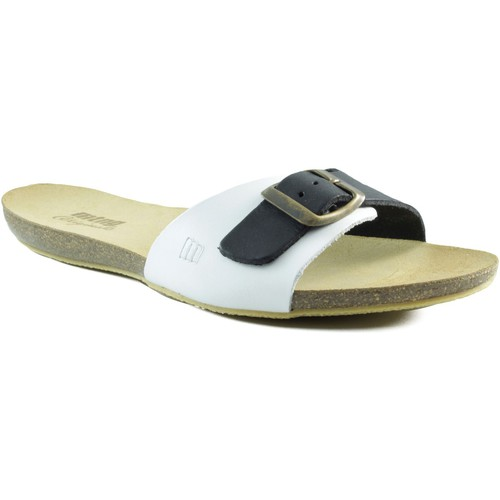 Zapatos Mujer Sandalias MTNG MUSTANG VAQUETA SANDALIA ZUECO BLANCO