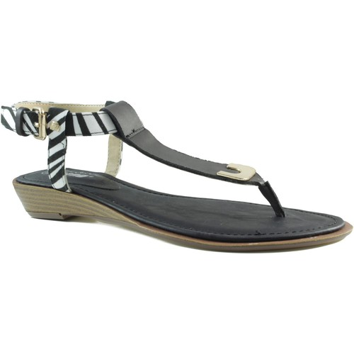 Zapatos Mujer Chanclas MTNG MUSTANG VACHE SANDALIA CUÑA NEGRO