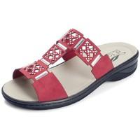Zapatos Mujer Zuecos (Mules) Dtorres IZAN SANDALIAS PLANTILLAS COMODAS TIPO ZUECO ROJO