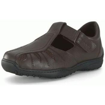 Zapatos Hombre Derbie Calzamedi SANDALIA PARA HOMBRE DIABETICO. COMODA Y ANCHA MARRON