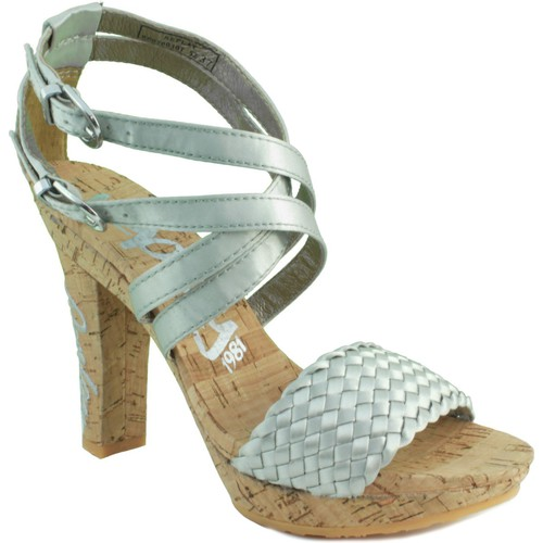 Zapatos Mujer Sandalias Replay ELSA SILVER PLATA