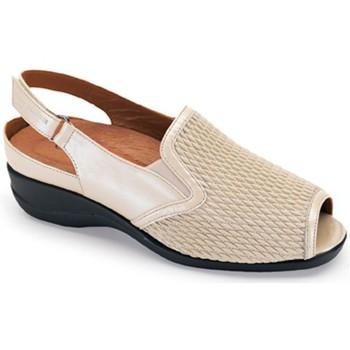 Zapatos Mujer Sandalias Calzamedi PALA ELASTICA BEIGE