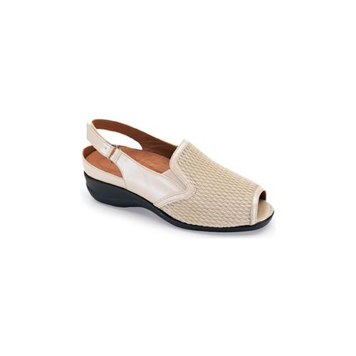 Zapatos Mujer Sandalias Calzamedi SANDALIA PALA ELASTICA COMODA BEIGE