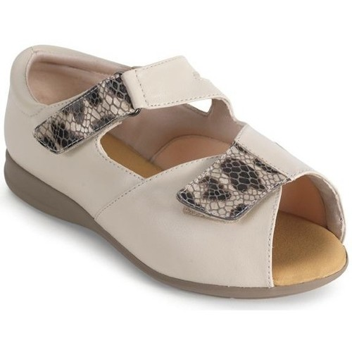 Zapatos Mujer Sandalias Calzamedi ORTOPEDICA DIABETICO BEIGE