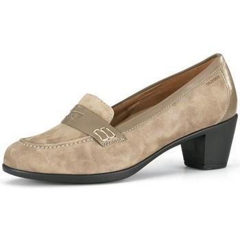 Zapatos Mujer Zapatos de tacón Calzamedi ANCHO ESPECIAL MOCASIN MUJER BEIGE