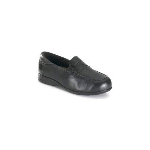Zapatos Mujer Mocasín Calzamedi MUJER COMODO ANCHO UNISEX NEGRO