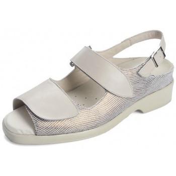Zapatos Mujer Sandalias Dtorres ANIA SANDALIA VELCROS SANDALIA PLANTILLAS BEIGE09