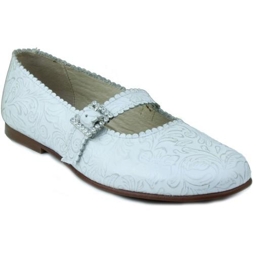 Zapatos Niña Bailarinas-manoletinas Rizitos RZTS COMUNION PIEL NIÑA BLANCO