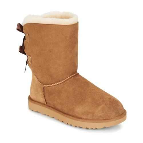 Zapatos Mujer Botas de caña baja UGG BAILEY BOW II Beige