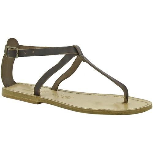 Zapatos Mujer Sandalias Gianluca - L'artigiano Del Cuoio 582 D MORO LGT-CUOIO Testa di Moro